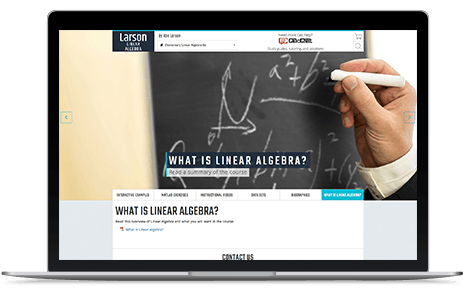 Larson Linear Algebra Homepage - screenshot